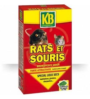 Céréales pour rats et souris spécial lieux secs.