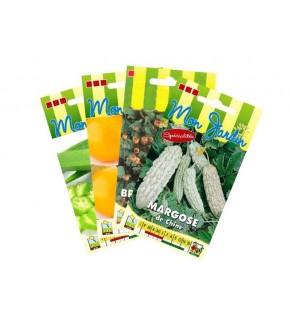 Lot de fruits et légumes exotiques (4 sachets de graines à semer)