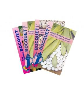 Lot de Haricot à Ecosser Blanc (4 sachets de graines à semer)