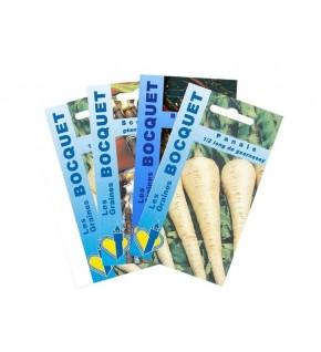 Lot de Légumes Racines (4 sachets de graines à semer)