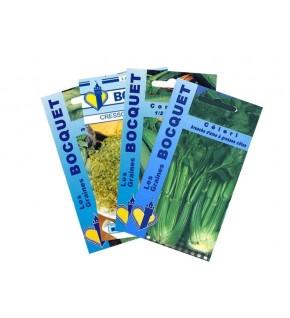Lot de Légumes spécial Smoothie Vert (4 sachets de graines à semer)
