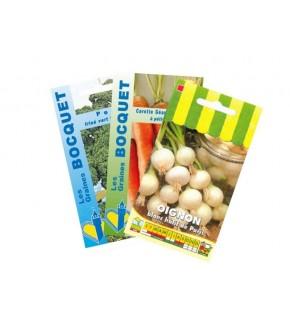 Lot d'Oignons et assortiment de légumes (3 sachets de graines à semer)