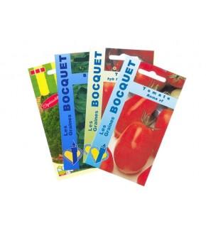 Lot de Tomates et assortiment de légumes (4 sachets de graines à semer)