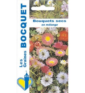 Fleurs pour bouquets secs en mélange