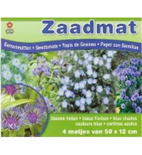 Tapis de graines de fleurs bleues