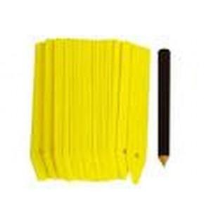25 étiquettes à planter 10cm + 1 crayon