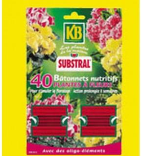 Engrais nutritifs plantes fleuries. Lot de 40 bâtonnets