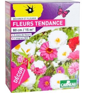 Fleurs tendance blanc, rose, fuschia 520g pour 15 m2