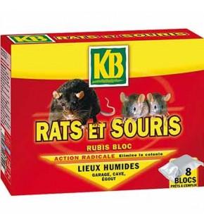 Blocs Rats et souris spécial lieux humides 8x30g