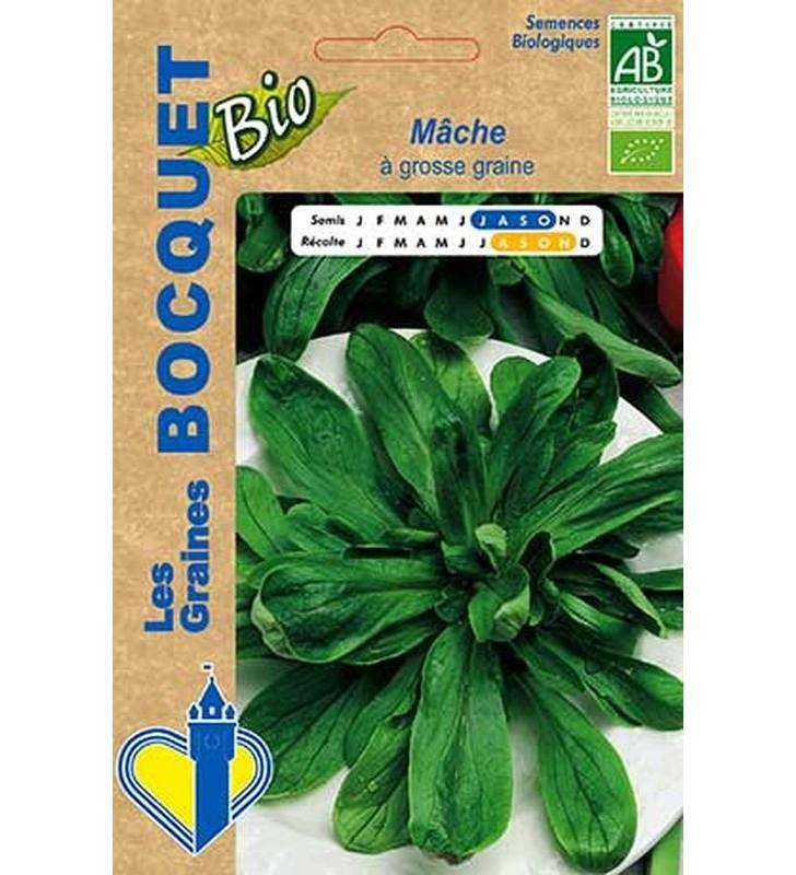 Mâche à grosse graine certifiée ECOCERT FR-BIO-01