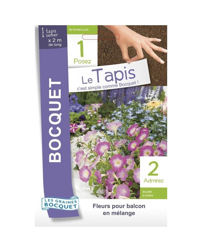 Tapis de graines de fleurs à balcon en mélange