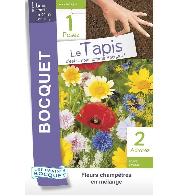 Tapis de graines de fleurs champêtres en mélange