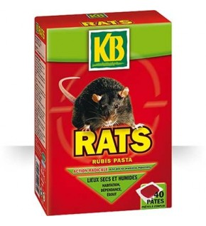 Pâtes biocide pour rats 400g
